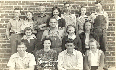 Cooperton Class of 1942  3 Addie Lee Chambers, Teacher; Alfred Miller; Nadean Wilder