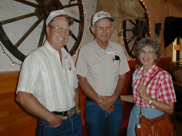 David Lester, Bob and JoAnn Felton, Ag Teacher