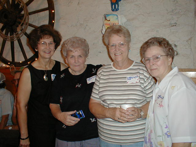 Belle (Sommers) Reeder, Wanda (Johnson) Simmons, Maxine (Mosley) Narod, Evelyn (Mosley) Faulkner