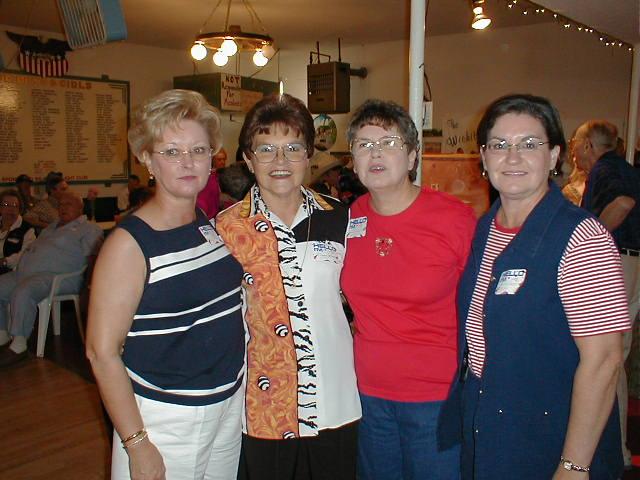8 Donna (Baskett) Byers, Peggy (Ladymon) Johnson, Sheila (Boyd) Brand, Kathy (Boyd) Cacini